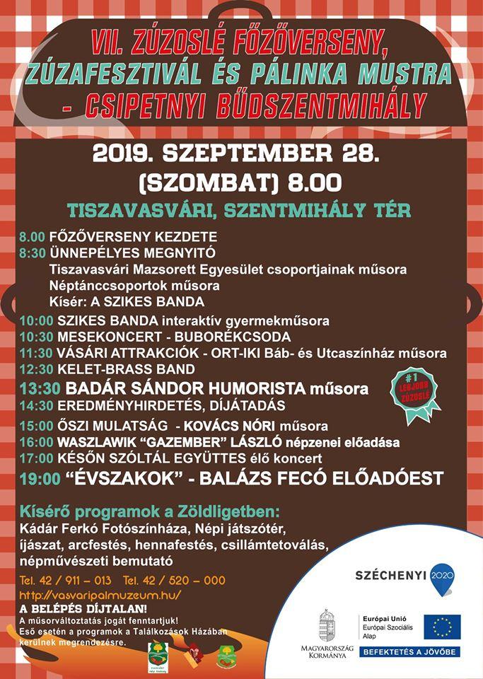 VII. Zúzoslé főzőverseny , Zúzafesztivál és Pálinka mustra - Csipetnyi Bűdszentmihály 2019
