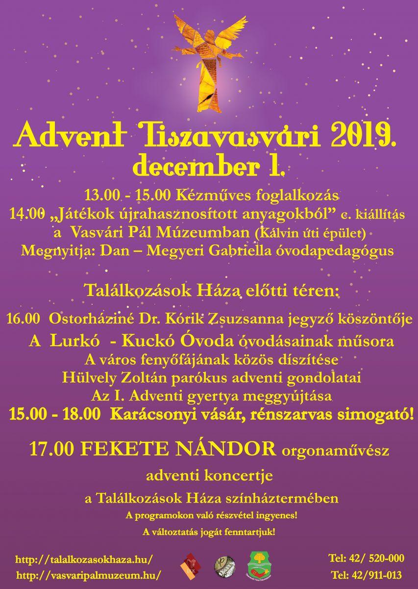 Advent Tiszavasvári 2019. december 1.