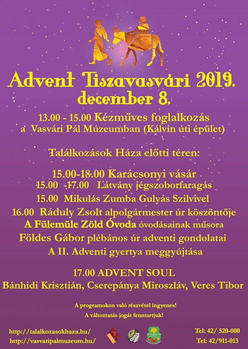 Advent Tiszavasvári 2019. december 8.