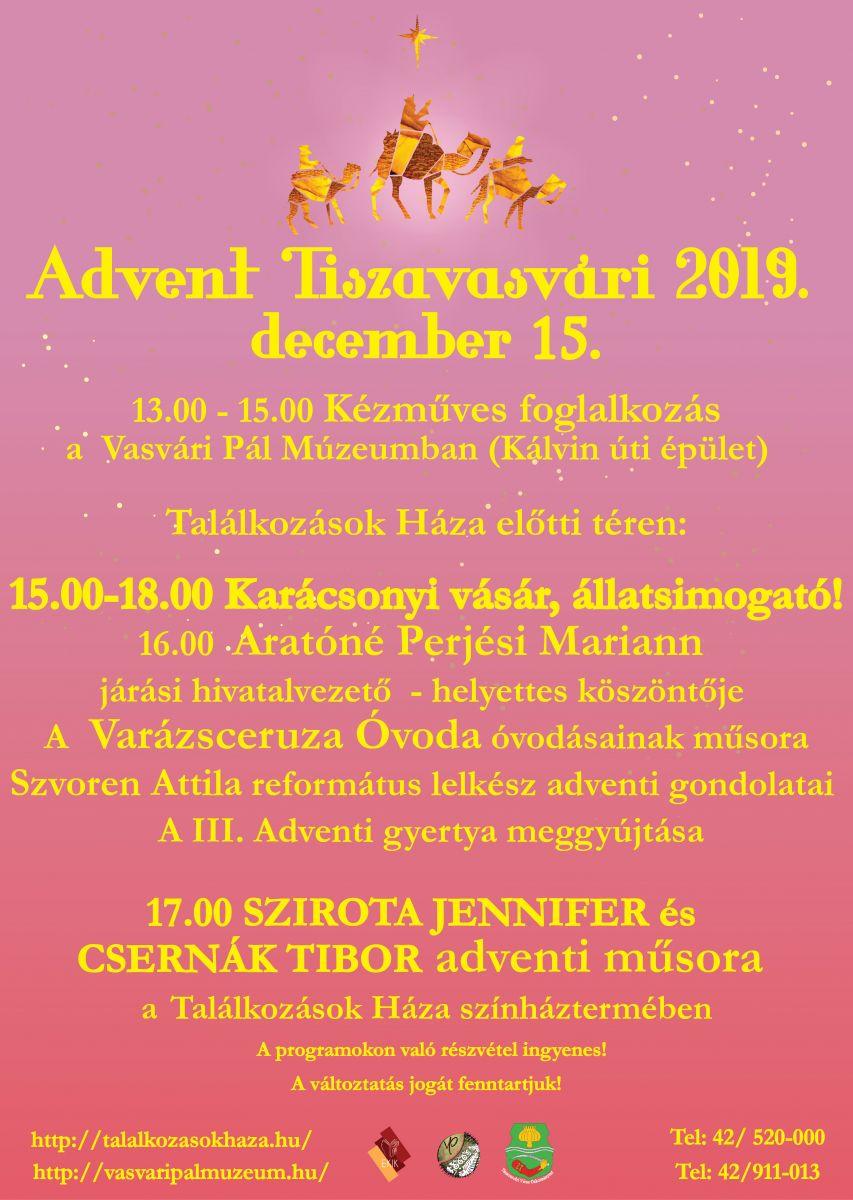 Advent Tiszavasvári 2019. december 15.