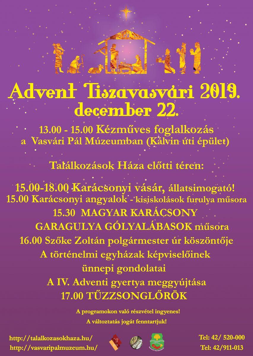 Advent Tiszavasvári 2019. december 22.