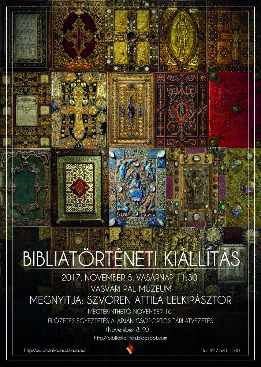 Bibliatörténeti kiállítás 2017