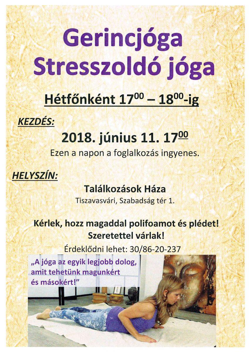 Gerinc jóga Stresszoldó jóga