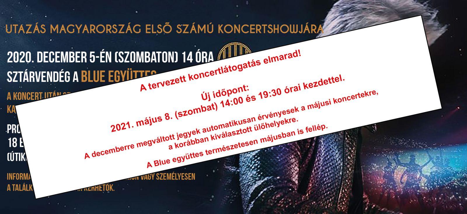 A tervezett koncertlátogatás elmarad!