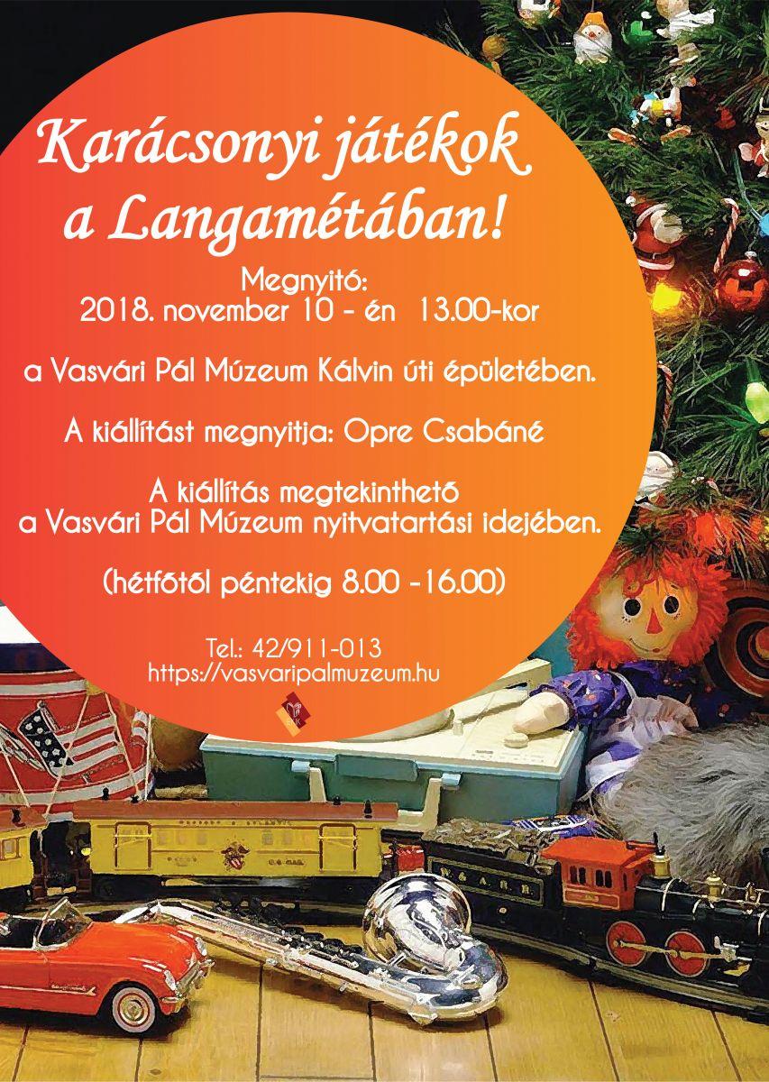 Karácsonyi játékok a Langamétában