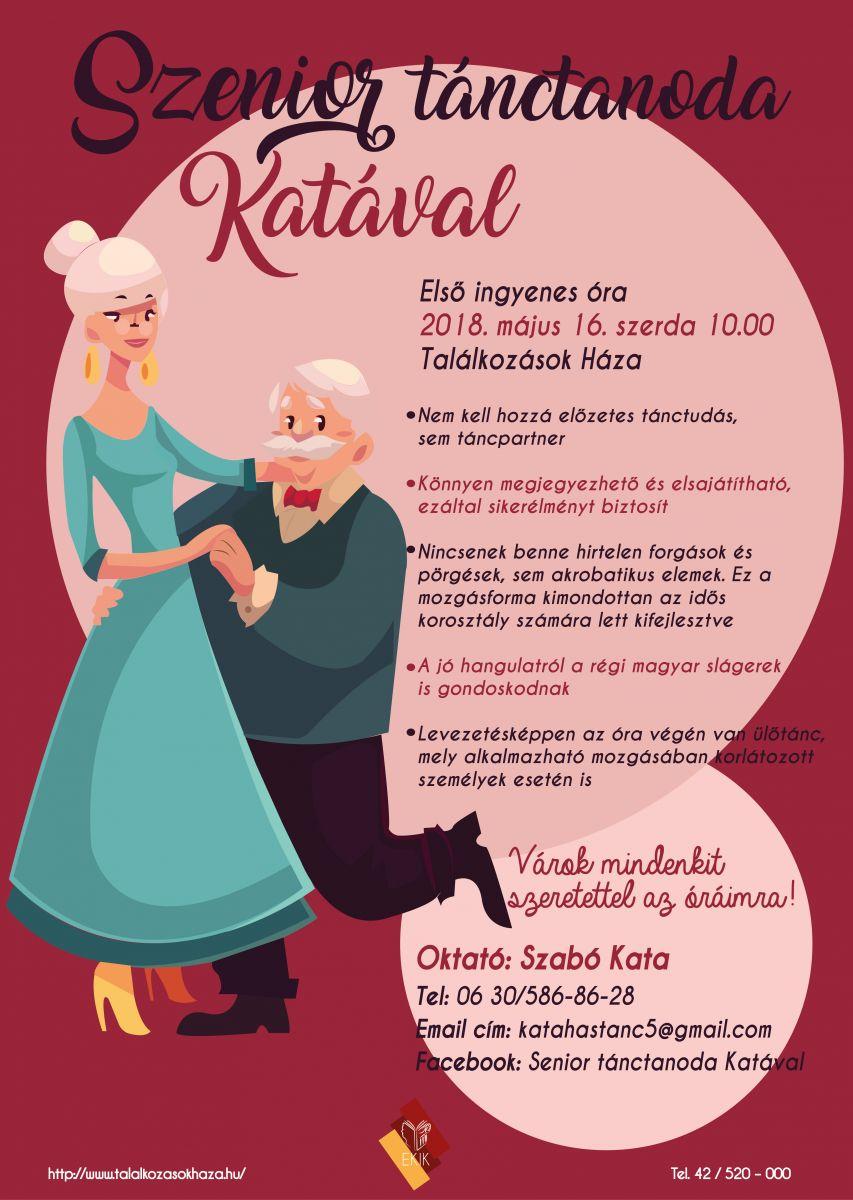 Szenior tánctanoda Katával!