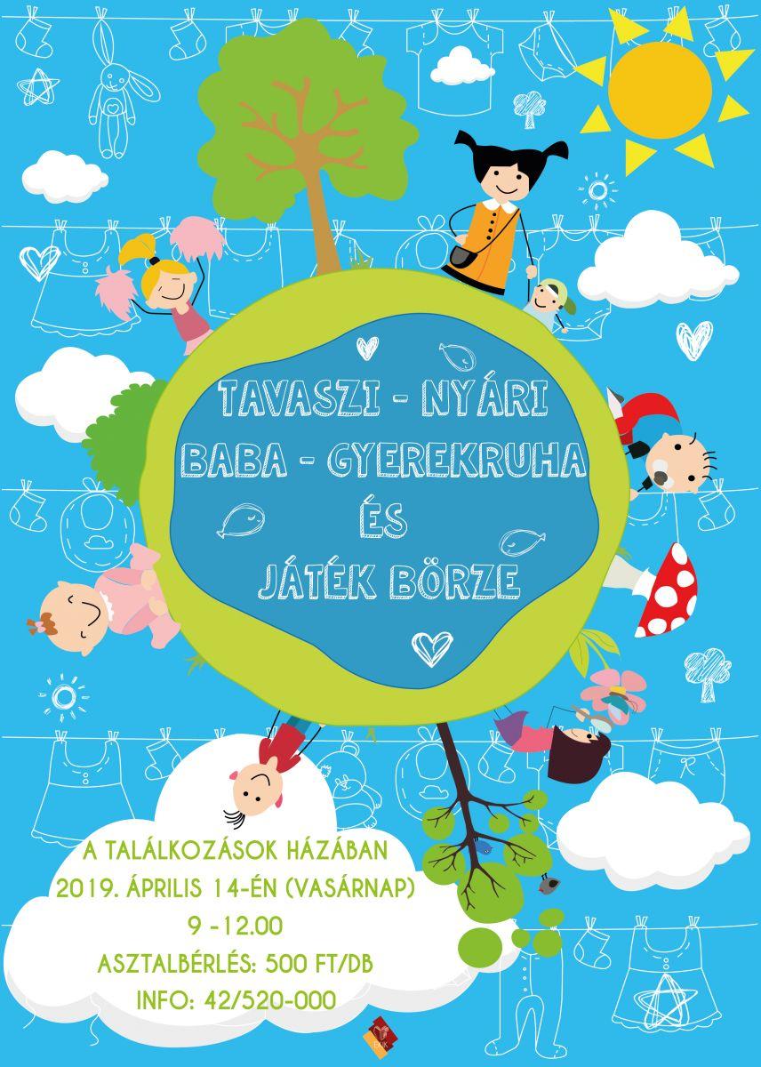 Tavaszi - nyári baba - gyerekruha és játék börze