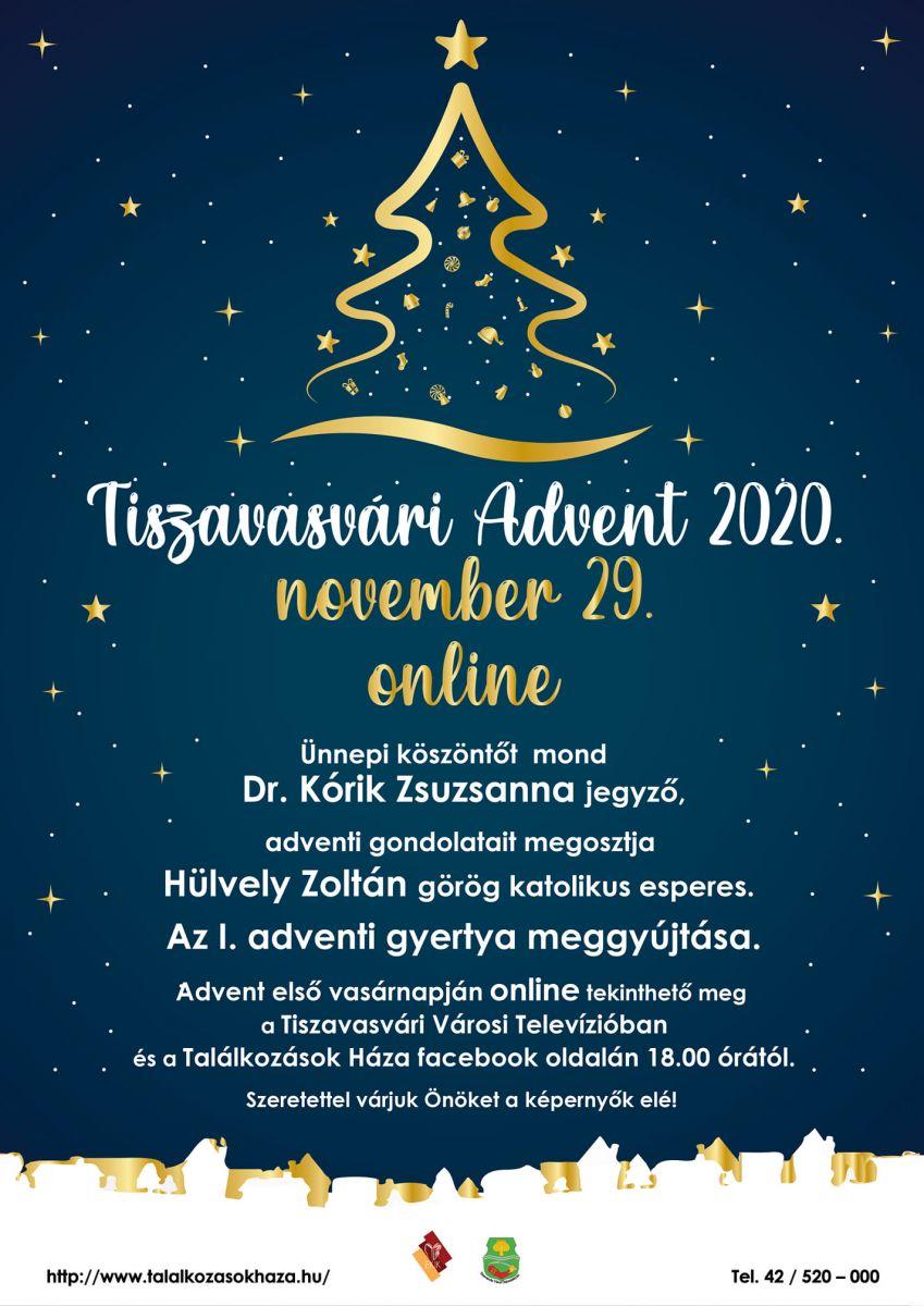 Tiszavasvári Advent 2020. november 29. online