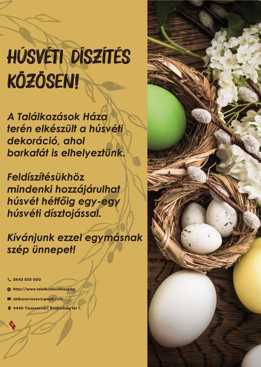 Húsvéti díszítés közösen!