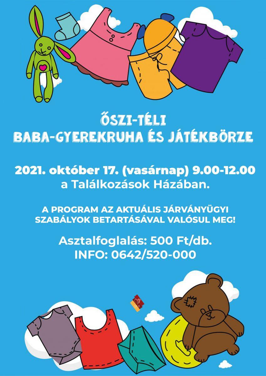 Őszi-Téli Baba-Gyerekruha és Játékbörze 2021.