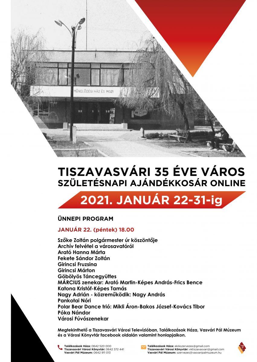 Tiszavasvári 35 éve város