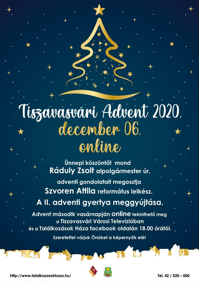 Tiszavasvári Advent 2020. december 06. online