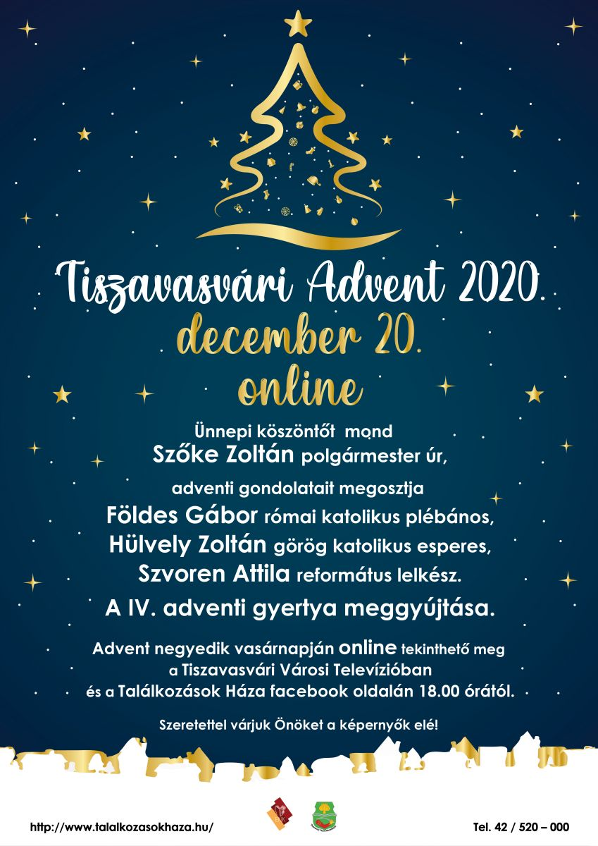 Tiszavasvári Advent 2020. december 20. online